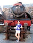 Me in front of the Hogwarts Express